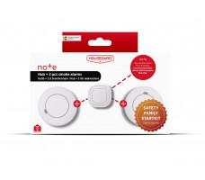 Housegard Note Family Startkit, Hub + 2 røykvarslere