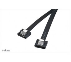 Akasa Proslim SATA III-kabel, 15cm, svart