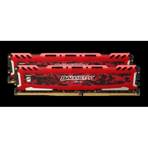 Crucial Ballistix Sport LT rød 32GB, 2 x 16GB