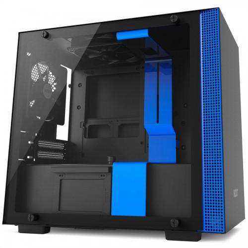 NZXT H200, matt svart/blå