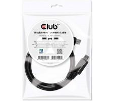 Club3D DisplayPort 1.4 HBR3 8K60Hz DSC 1.2-kabel, 1 meter, svart