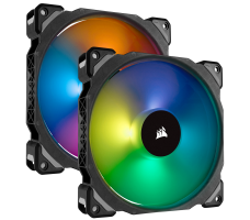 Corsair ML140 Pro RGB, 2x 140mm, med hub