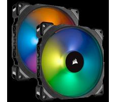 Corsair ML140 Pro RGB, 2 x 140mm, med hub