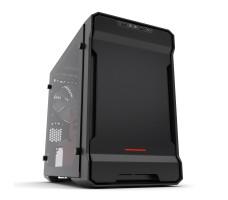 Phanteks Enthoo Evolv ITX, svart/rød med vindu