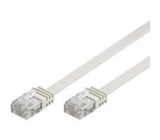 Deltaco nettverkskabel, Cat 6, 10m, hvit